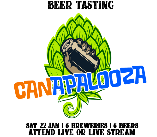 Canapalooza - Virtual Beer Tasting At Home